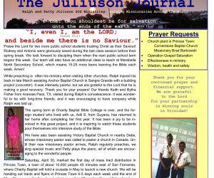 Read more...SOS Ministries March-April 2017 Prayer Letter