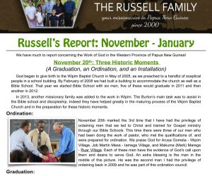 Read more...The Russells - January 2017 Prayer Letter